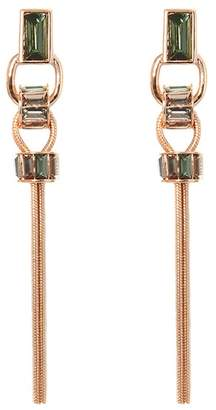 Vince Camuto Faceted Crystal Linear Tassel Earrings