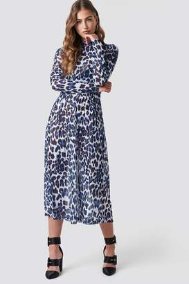 Rut & Circle Rut&Circle Leo Mesh Dress Blue Leo Print