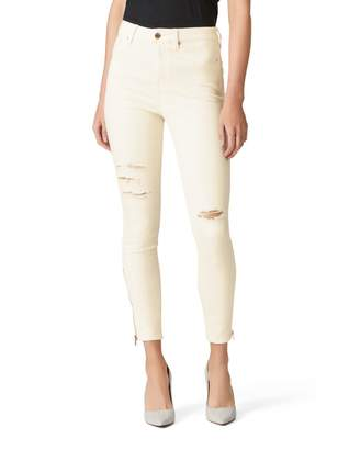 Jeanswest Olanta High Waisted Skinny 7/8 Jean-Winter White-6