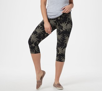 Women With Control Women with Control Petite Printed Denim Prime Stretch Capri Jeans