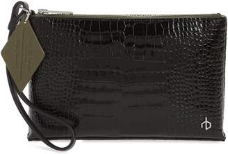Rag & Bone Croc Embossed Leather Wristlet