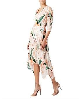 David Lawrence Hillier Printed Dress