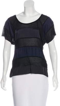 Hache Striped Silk-Blend Top