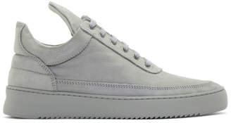 Filling Pieces Grey Low Ripple Sneakers