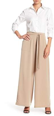 June & Hudson Wide Leg Waist Tie Pants
