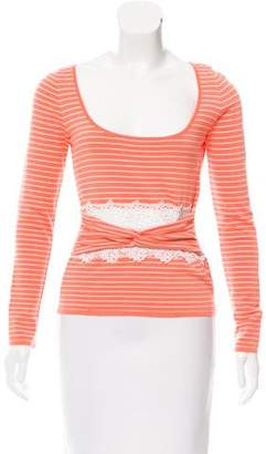 Valentino Striped Long Sleeve Top