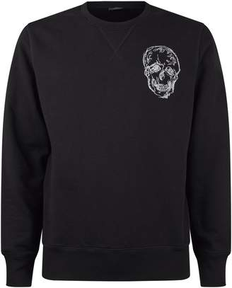 Alexander McQueen Embroidered Skull Sweatshirt