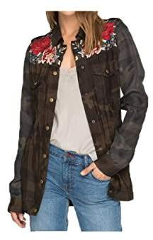 3J Workshop by Johnny Was Women's Mica Drawstring Military Coat