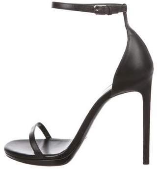 Saint Laurent Jane Ankle Strap Sandals