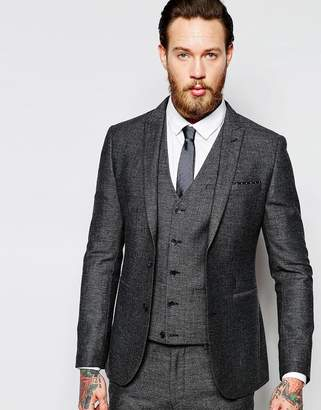Asos (エイソス) - ASOS Super Skinny Suit Jacket In Tweed