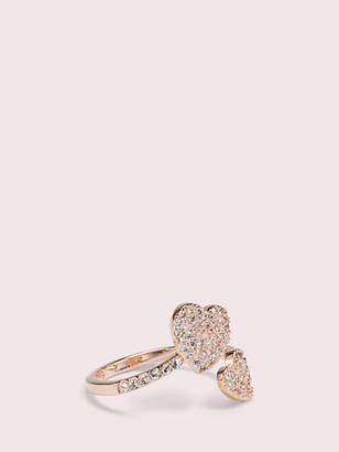 Kate Spade Yours truly pave heart ring