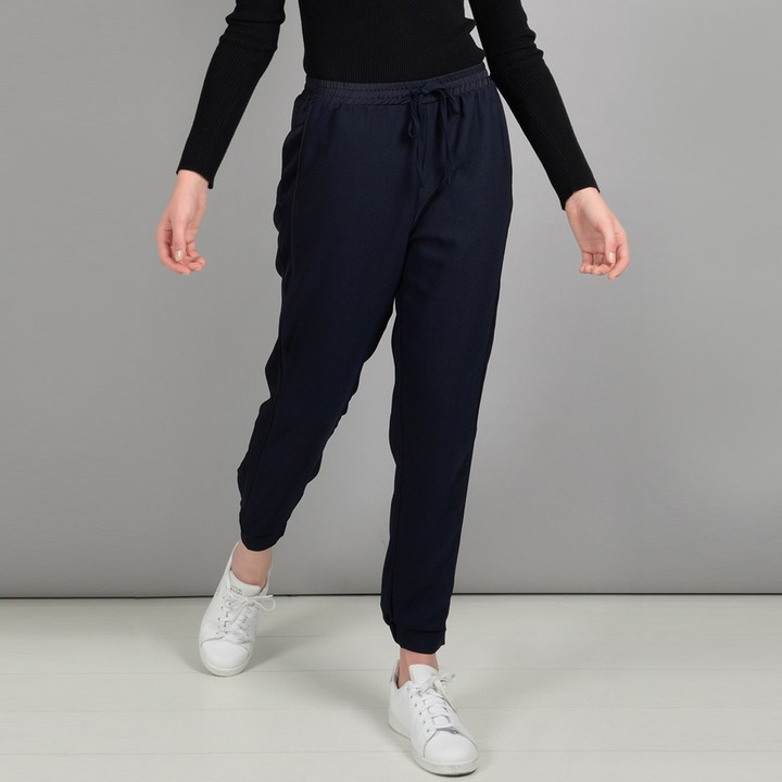 Loose Fit Wide Leg Trousers