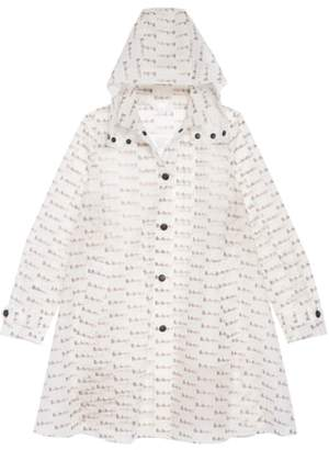 Burberry Penelope Logo Print Hooded Rain Coat