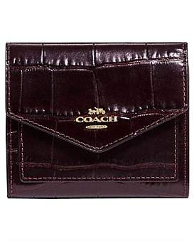 Coach Embossed Croc Small Wallet