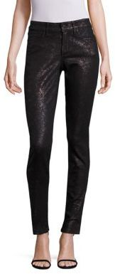 NYDJ Alina Lace-Print Legging Jeans $158 thestylecure.com