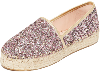 Kate Spade New York Linds Too Platform Glitter Espadrilles $150 thestylecure.com