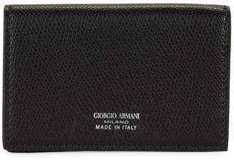 Giorgio Armani Textured Leather Cardholder