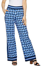 C. Wonder Petite Pull-On Printed Knit Pantswith Stripe