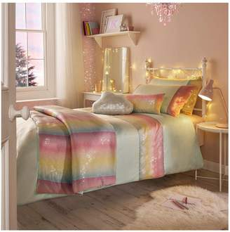 Kylie Minogue Kylie Rainbow Aqua Sequin Duvet Cover Set