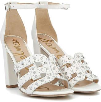 6992a68e7 Sam Edelman White Block Heel Women s Sandals - ShopStyle