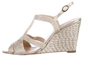LK Bennett Metallic Wedge Sandals