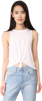 Chaser Tie Front Muscle Tank $51 thestylecure.com