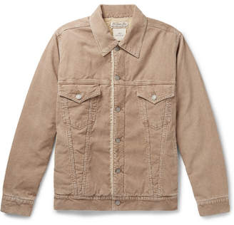 Remi Relief Faux Shearling-Lined Cotton-Blend Corduroy Trucker Jacket