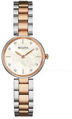 Bulova Diamond and Mother-of-Pearl Two-Tone Stainless Steel Watch