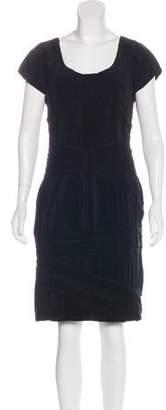 Philosophy di Alberta Ferretti Textured Short Sleeve Dress