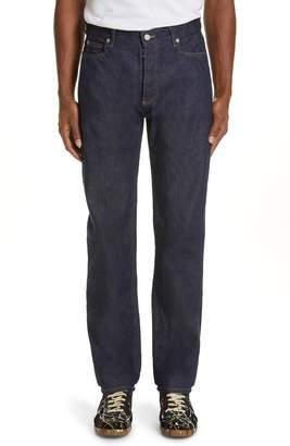 Maison Margiela Resin Coated Raw Denim Jeans