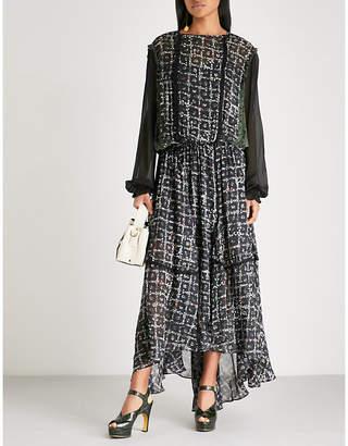 Preen Line Anfisa floral-print crepe midi dress