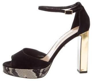 Diane von Furstenberg Suede Platform Sandals