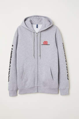 H&M Printed Hooded Jacket - Gray