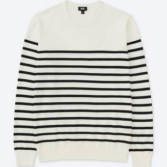 Uniqlo MEN Washable Striped Crew Neck Long Sleeve Sweater