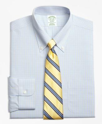 Brooks Brothers Milano Slim-Fit Dress Shirts, Non-Iron Triple Overcheck