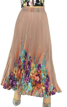 "YSJ Womens Long Maxi Skirt - 35.4"" Flora Sunray Pleated Chiffon Full Dress"