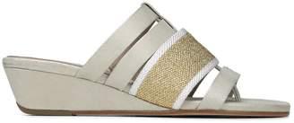 Donald J Pliner DARA, Mesh and Metallic Brush Off Wedge Sandal
