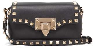 Valentino Rockstud Mini Leather Cross Body Bag - Womens - Black