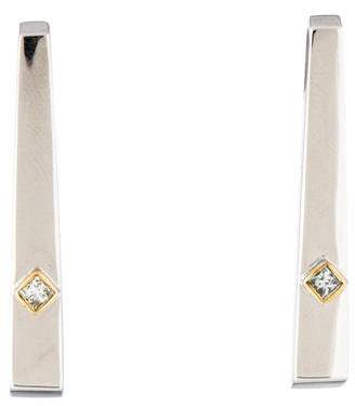 Movado 18K Diamond Linear Drop Earrings