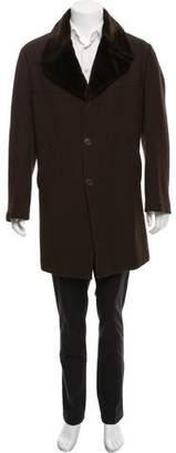 Gucci Peaked-Lapel Knee-Length Coat