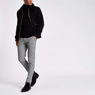 River Island Grey check ultra skinny fit pants
