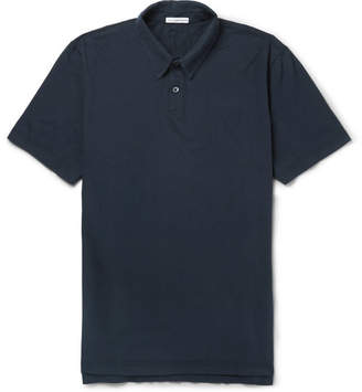 James Perse Supima Cotton-Jersey Polo Shirt - Men - Storm blue
