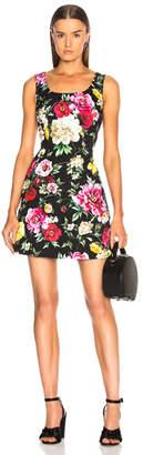 Dolce & Gabbana Brocade Floral Mini Dress