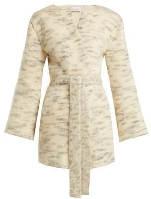 Raey Belted Mohair Blend Cardigan - Womens - Ivory