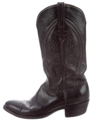 Lucchese Leather Cowboy Boots