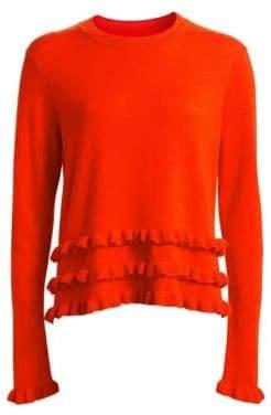 Cinq à Sept Adiella Ruffled Cashmere Sweater