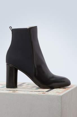 Sartore Leather ankle boots with heels