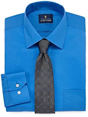 STAFFORD Stafford Box Shirt And Tie Set - Big And Tall
