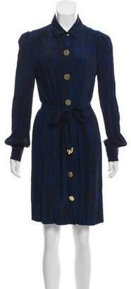 Diane von Furstenberg Belted Button Up Dress