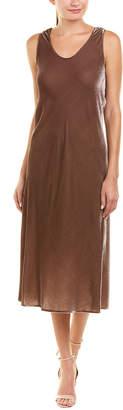 Vince Velvet Silk-Blend Tank Dress